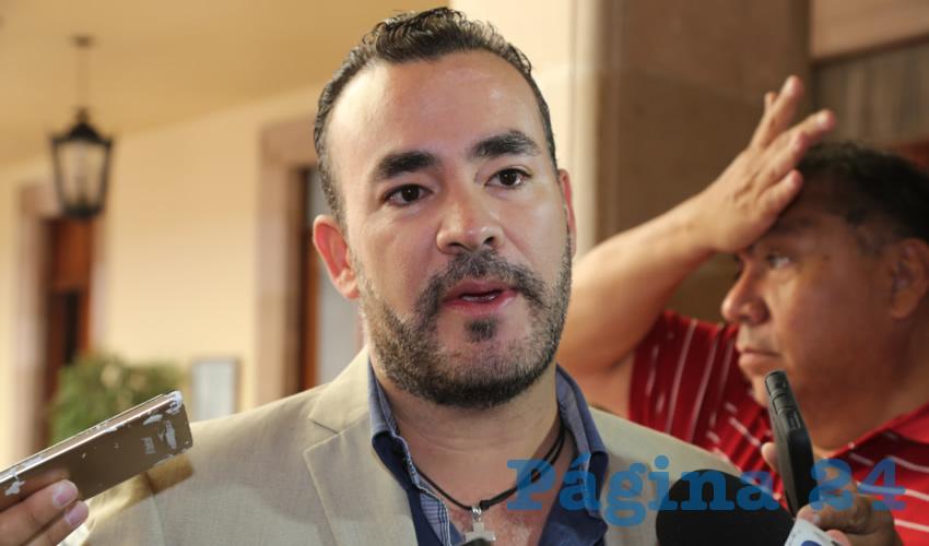 Mauricio González López, regidor (Foto: Eddylberto Luévano Santillán)