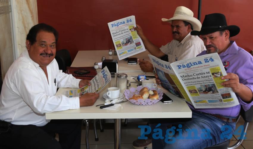 En el restaurante Mitla almorzaron Manuel Medina Ortega, Abel Lariz Serna y Cecilio Ávila García, secretario general de la Cioac