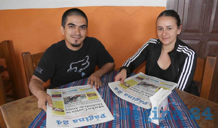 En el restaurante El Farolito compartieron el primer alimento del día Christian Hernández Murillo y Nathali Ledezma Guzmán