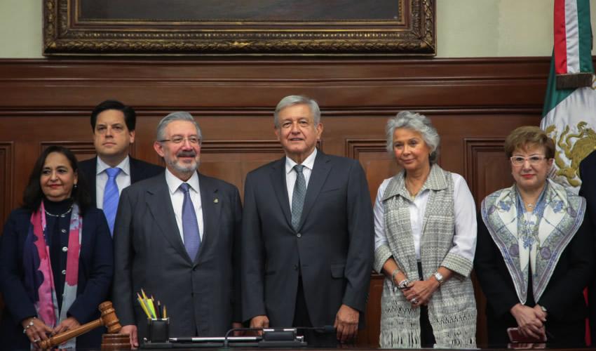 "Encuentro con López Obrador, en ""Pleno  Respeto a la División de Poderes"": SCJN"