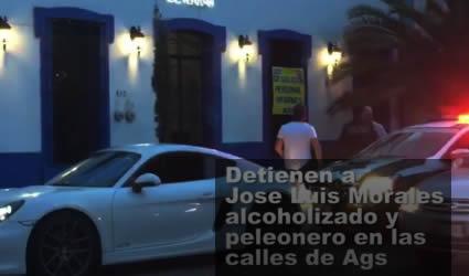 Detienen a José Luis Morales Alcoholizado y Prepotente