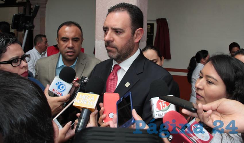 Alejandro Tello Cristerna, Gobernador del Estado de Zacatecas. (Foto: Rocío Castro)