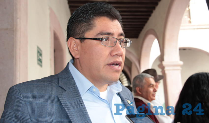 Saúl Monreal Ávila, alcalde electo de Fresnillo (Foto Rocío Castro)