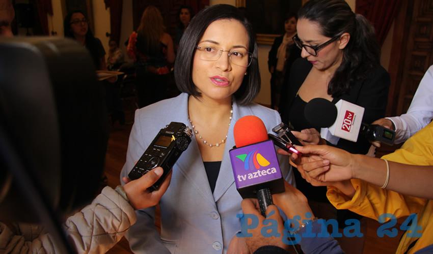María de la Luz Domínguez Campos, presidenta de la Comisión de Derechos Humanos del Estado de Zacatecas (Foto Rocío Castro Alvarado)
