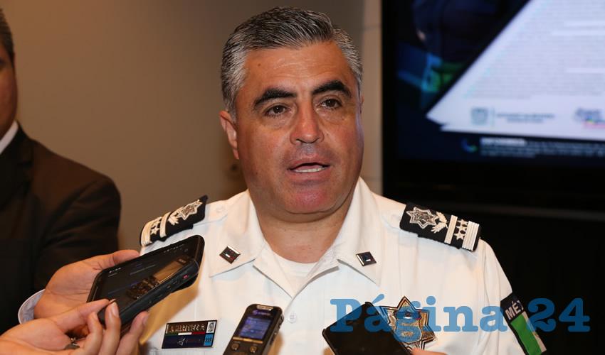 Antonio Martínez Romo, secretario del Seguridad Pública del Municipio de Aguascalientes