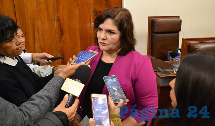 """María Navidad de Jesús Rayas Ochoa, diputada local: """"Nunca se imaginaron que la justicia divina les jugara una mala pasada"""" (Foto Merari Martínez)"""