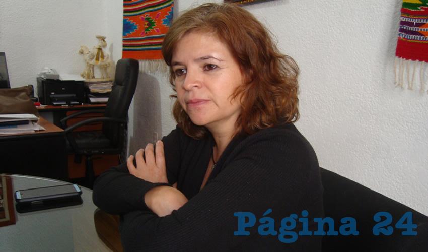 Rosa Elvira Campos Álvarez, titular de la Subsecretaría de Desarrollo Artesanal (Foto Archivo Página 24)