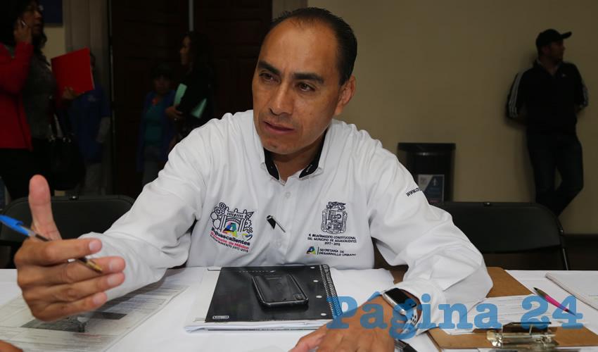 Adrián Castillo Serna, secretario de Desarrollo Urbano Municipal
