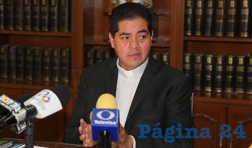 Carlos Alberto Alvarado Quezada, vocero de la Diócesis de Aguascalientes
