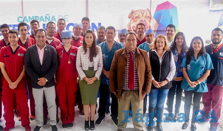 La alcaldesa de Aguascalientes, Tere Jiménez, encabezó el arranque de la tercera etapa de la Campaña de Esterilización Canina y Felina 2018