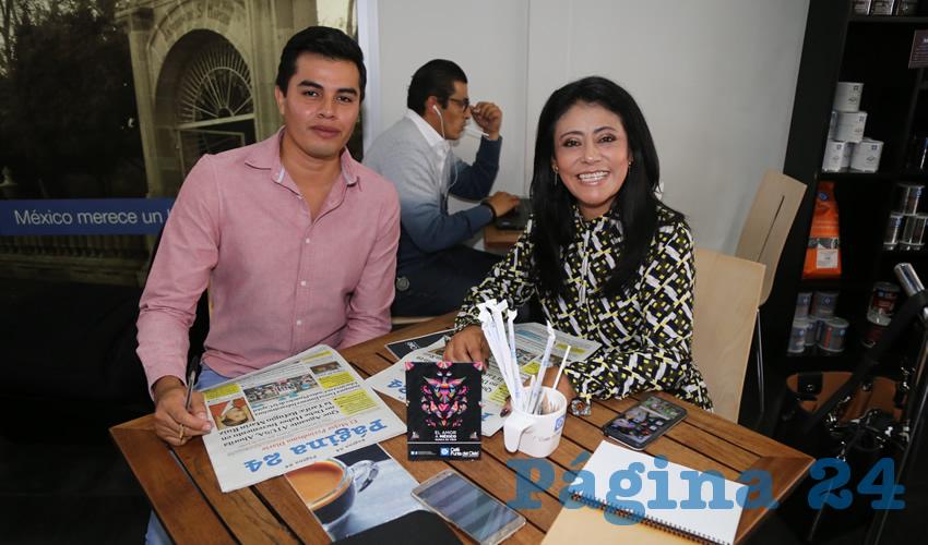 En Café Punta del Cielo departieron Miguel Trujillo Badillo y la diputada electa Patricia García García