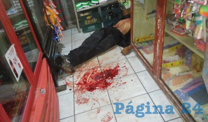 Así encontraron las autoridades el cadáver de José Luis Villa Arandas.