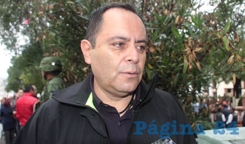 Antonio Caldera Alaniz, titular de la Dirección de Protección Civil Estatal (Foto Rocío Castro)