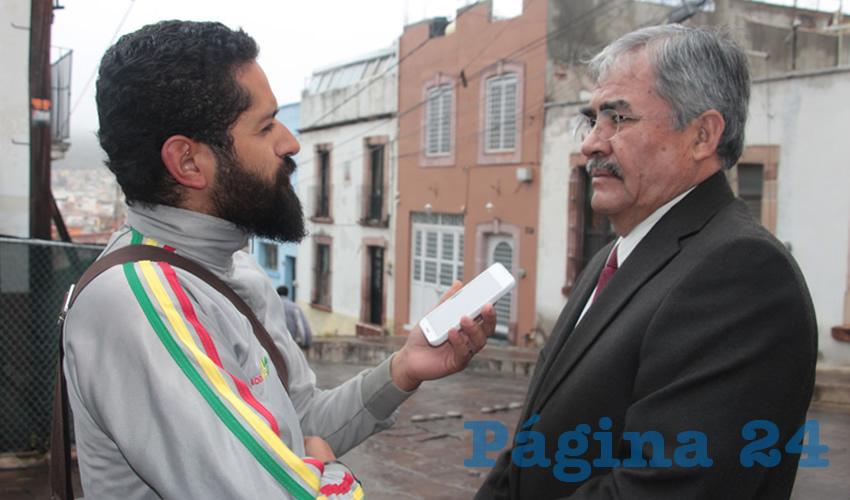 Ramón Navarro Munguía, delegado de la Secretaría de Educación Pública (SEP) en Zacatecas (Foto: Rocío Castro)