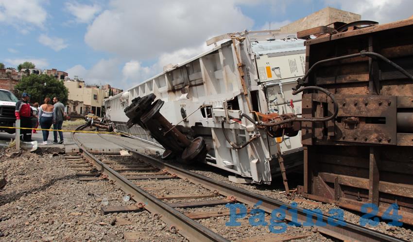 Otra vez se Descarriló el Tren en Zacatecas