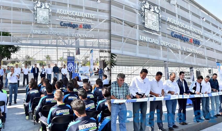 Entrega el Gobernador Obras en Unidad Deportiva IV Centenario