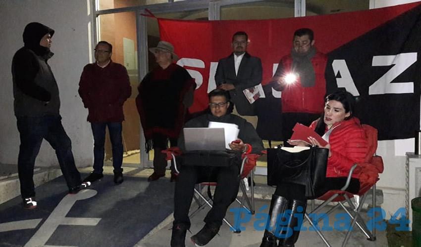 Esta protesta contra la administración central fue avalada por Regina Compeán González (Foto Cristo González)