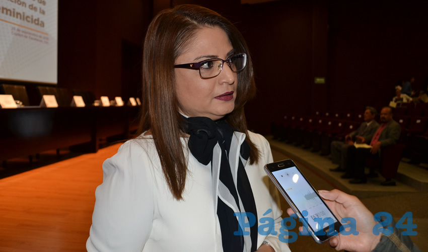 Adriana Rivero Garza, titular de la Secretaría de las Mujeres (Semujer) (Foto Merari Martínez)