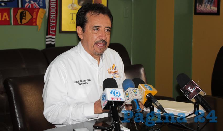 Miguel Torres Rosales, alcalde de Villanueva (Foto Rocío Castro)