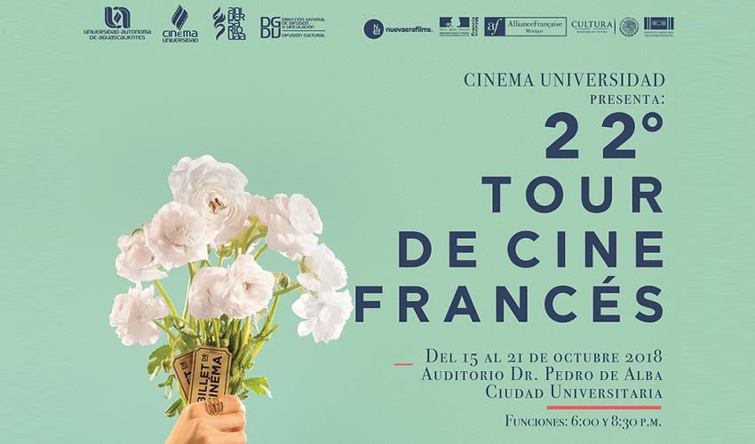Edición 22 del Tour de Cine Francés Llegará a la UAA