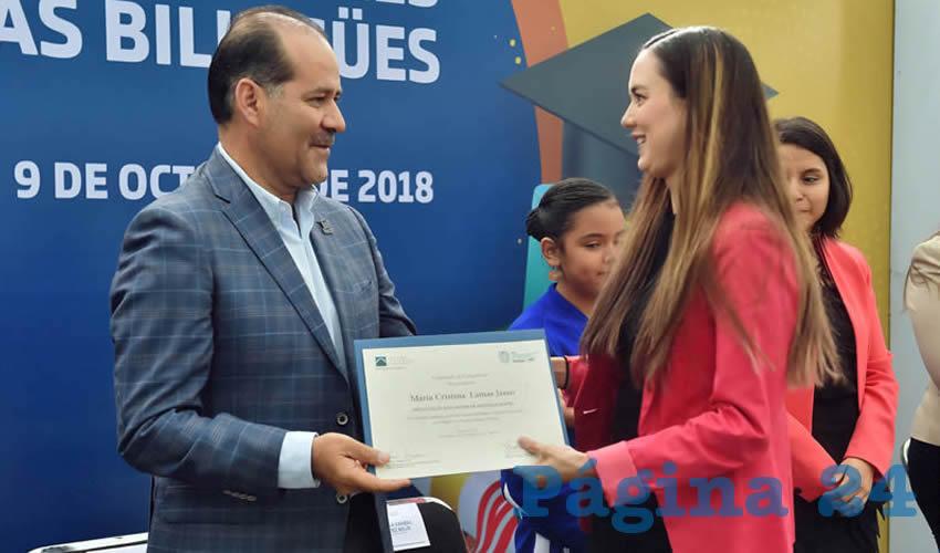 """El gobernador del Estado, Martín Orozco Sandoval, encabezó la entrega de certificaciones internacionales a 24 maestros que asistieron al programa """"Dual Language Program"""""""