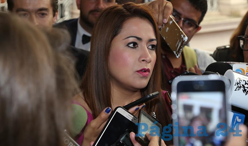 Tere Jiménez Esquivel, presidenta municipal de Aguascalientes (Foto: Eddylberto Luévano Santillán)