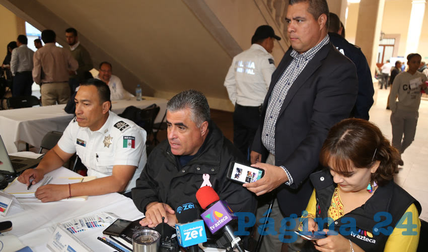 Antonio Martínez Romo, secretario de Seguridad Pública Municipal (Foto: Eddylberto Luévano Santillán)