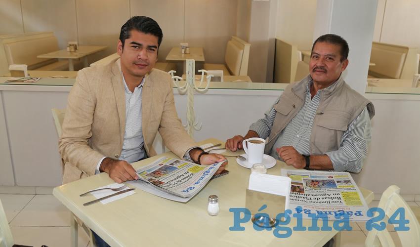 En el restaurante Del Centro almorzaron Mauricio Navarro Ramírez y Rubén Landín García