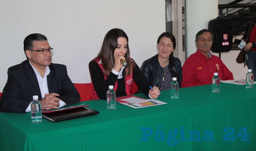 En conferencia de prensa autoridades del Instituto de la Juventud Zacatecana, la Secretaría de Educación de Zacatecas (Seduzac) (Foto: Rocío Castro Alvarado)