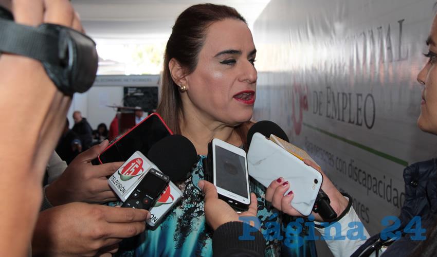 María de Lourdes Rodarte Díaz, titular de la Subsecretaría para la Inclusión de Personas con Discapacidad. (Foto: Rocío Castro Alvarado)