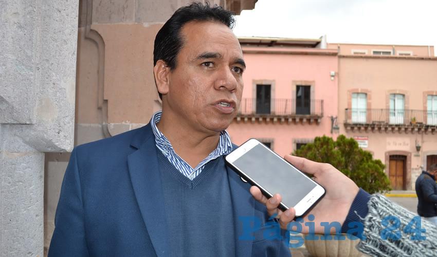 Juan Mendoza Maldonado, diputado local de la bancada del Partido de la Revolución Democrática (PRD) (Foto Merari Martínez)