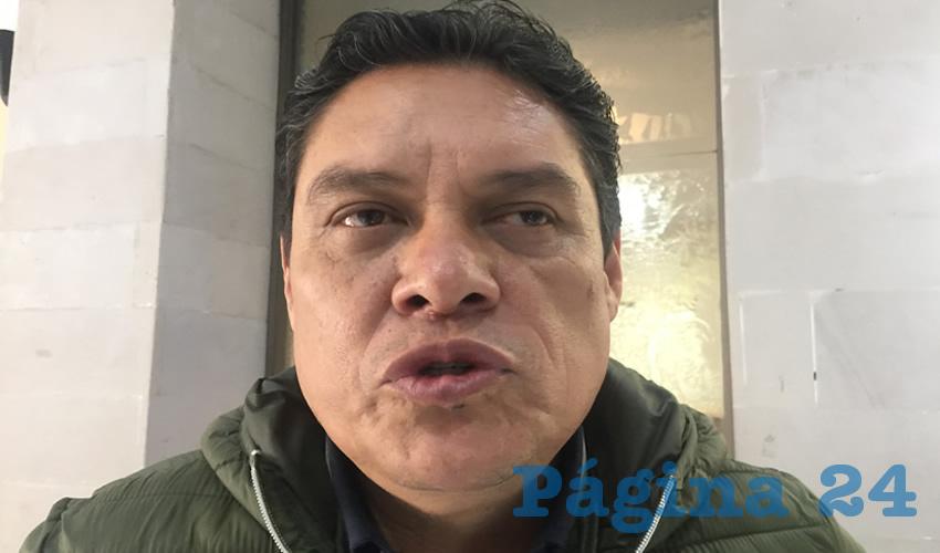 Armando Moreira Medina, ex dirigente estatal Sindicato Único de Trabajadores al Servicio del Estado, Municipios y Organismos Paraestatales (Foto Cristo González)