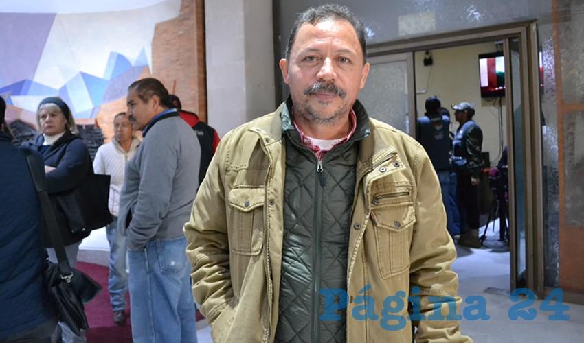 Alejandro Rivera Nieto, secretario general del Sindicato Independiente de Trabajadores del Estado de Zacatecas (Sitez) (Foto Merari Martínez Castro)