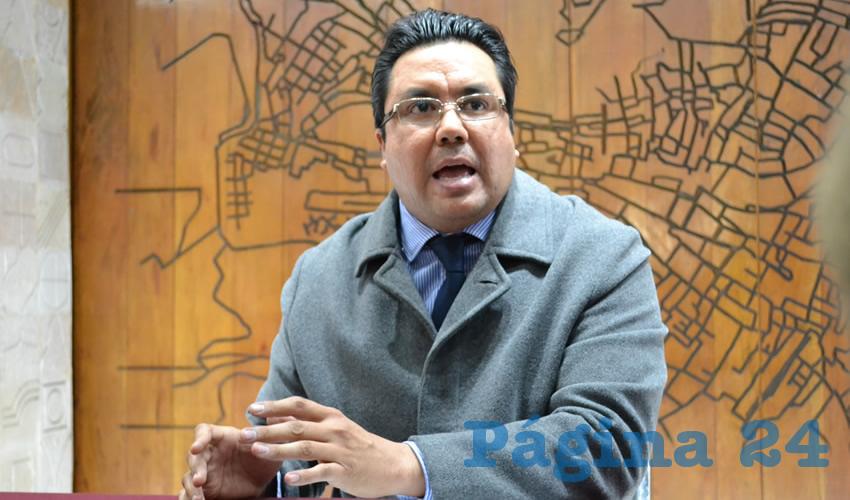 Omar Carrera Pérez, diputado local por el Movimiento de Regeneración Nacional (Foto Merari Martínez Castro)