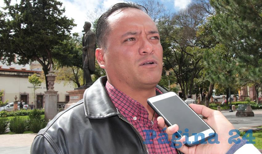 Hiram Galván Ortega, regidor capitalino por el Movimiento de Regeneración Nacional (Foto Rocío Castro)