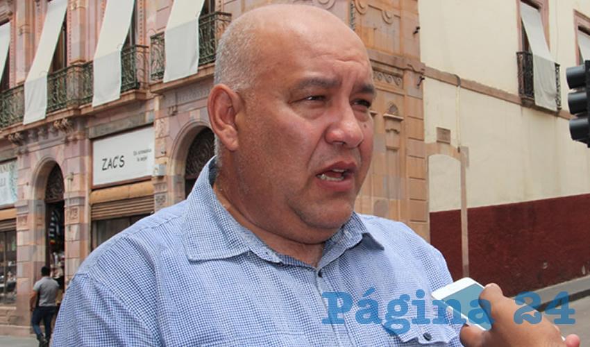 Carlos García Murillo, secretario de formación política en el Partido de la Revolución Democrática (Foto Rocío Castro Alvarado)
