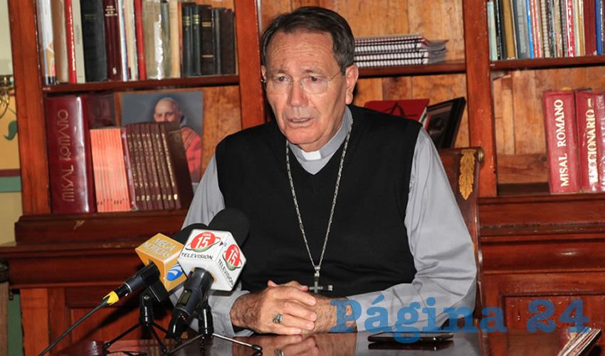 Sigifredo Noriega Barceló, obispo de la Diócesis de Zacatecas (Foto Rocío Castro)