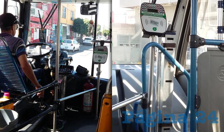Aún no se sabe cuándo funcionará la totalidad de las máquinas instaladas para el prepago o para abonar la cantidad exacta de pasaje; lo cierto es que ha traído inconvenientes a más de un usuario de los camiones supuestamente modernizados por el gobierno/Fotos: Francisco Tapia