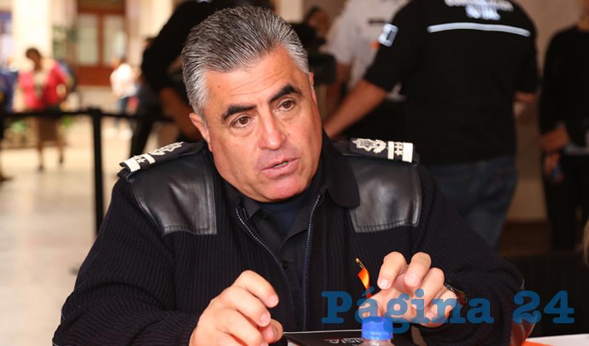 Juan Antonio Martínez Romo, secretario de Seguridad Pública Municipal (Foto: Eddylberto Luévano Santillán)