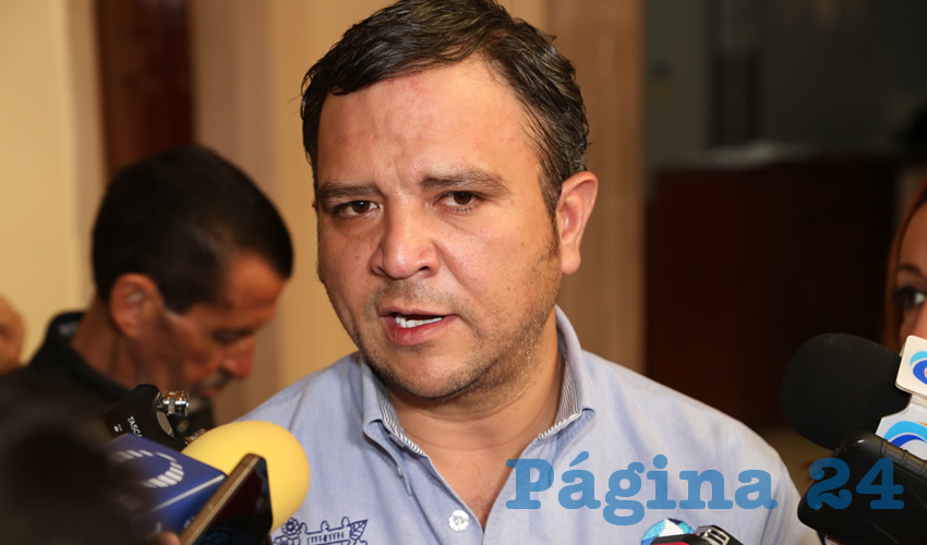 Refugio Muñoz de Luna, director de la Comisión Ciudadana de Agua Potable y Alcantarillado del Municipio de Aguascalientes (Foto: Eddylberto Luévano Santillán)