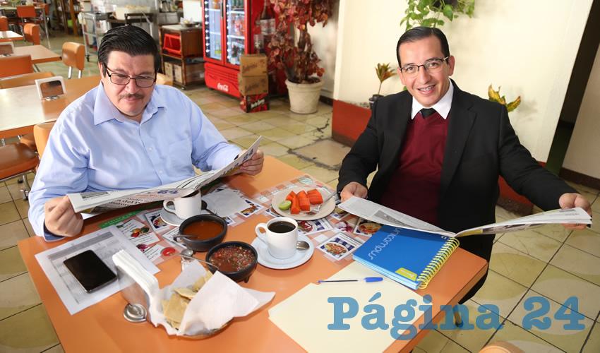 En el restaurante El Zodiaco almorzaron Arturo González Estrada y Salvador Maximiliano Ramírez Hernández