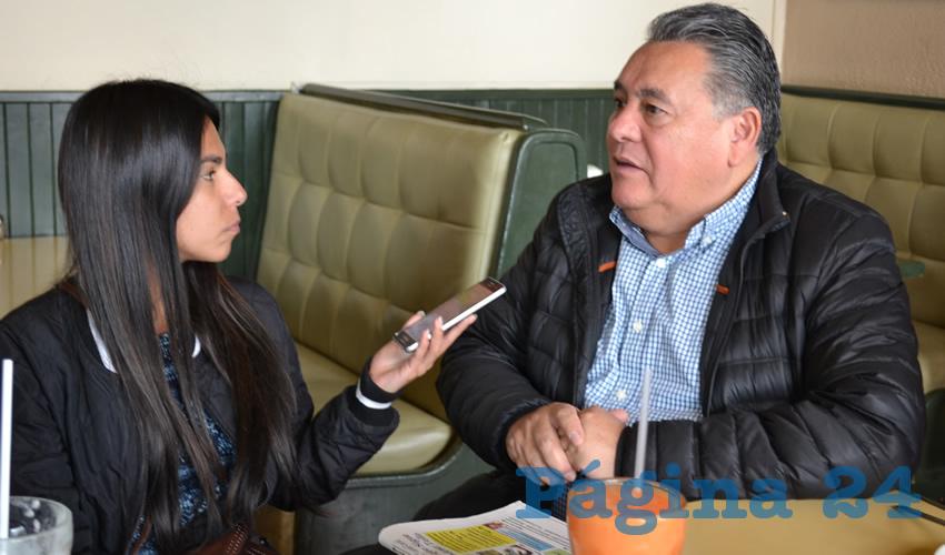 Arturo Ortiz Méndez, dirigente estatal de Partido de la Revolución Democrática (PRD) (Foto Merari Martínez)