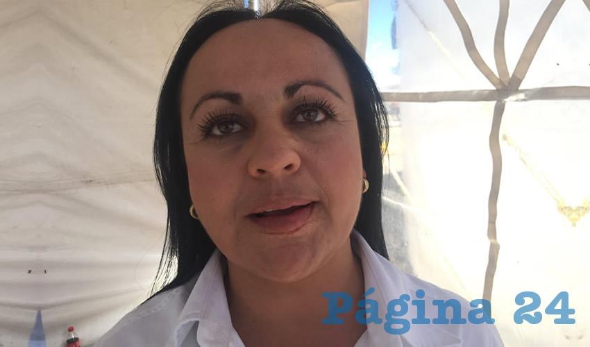 """Claudia Ávila Velázquez, jefa de Planeación y Programación de la Escuela de Conservación y Restauración de Zacatecas """"Refugio Reyes"""" (Foto Cristo González)"""