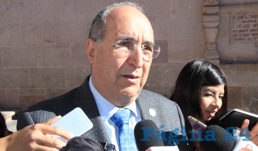 Gilberto Breña Cantú, titular de la Secretaría de Salud del Zacatecas (SSZ) (Foto Rocío Castro)