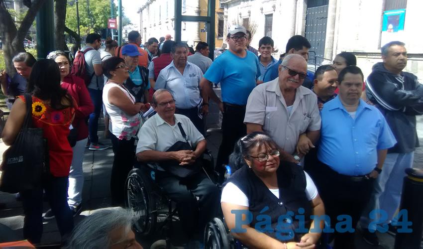 Que se reforme la Ley de Movilidad y Transporte del Estado de Jalisco, a fin de que se garantice un derecho básico a todos los jaliscienses por igual, sin excluir a quienes tienen discapacidades, exigieron/Fotos: Francisco Tapia