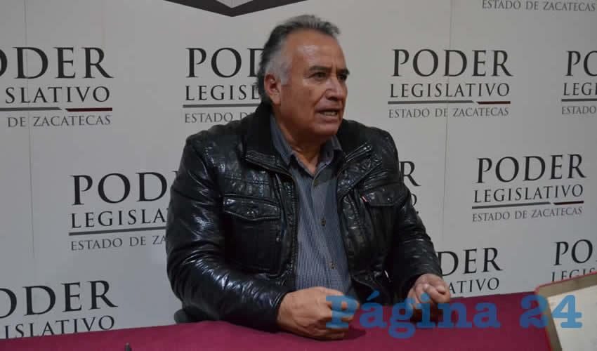 Armando Perales Gándara, diputado del Movimiento de Regeneración Nacional (Morena) (Foto Merari Martínez Castro)