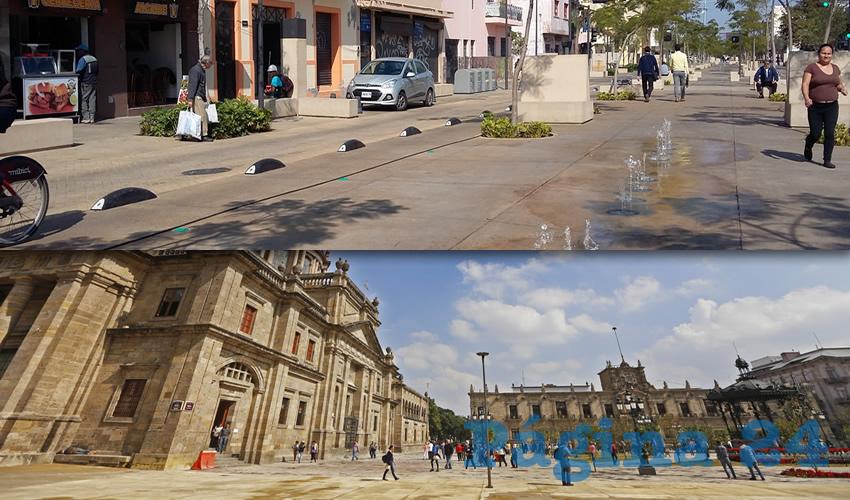 En Paseo Alcalde abundaron los pretextos desde el principio de los trabajos, en febrero de 2017; pese a las quejas ciudadanas y al entorpecimiento del tránsito vehicular en esta parte de Guadalajara, las autoridades se aferraron a continuar; hoy no se sabe cuándo estarán listas/Foto: Cuartoscuro