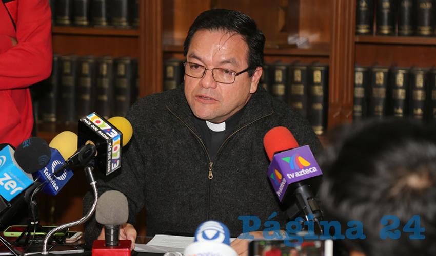 Javier Cruz Muñoz, vicario general de la Diócesis de Aguascalientes (Foto: Eddylberto Luévano Santillán)