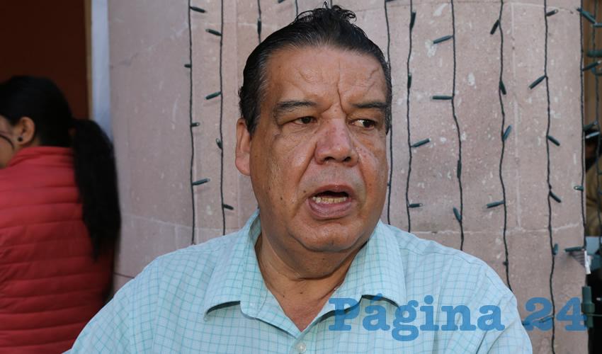 Francisco Javier Flores Flores, dirigente de Cimientos del Magisterio (Foto: Eddylberto Luévano Santillán)