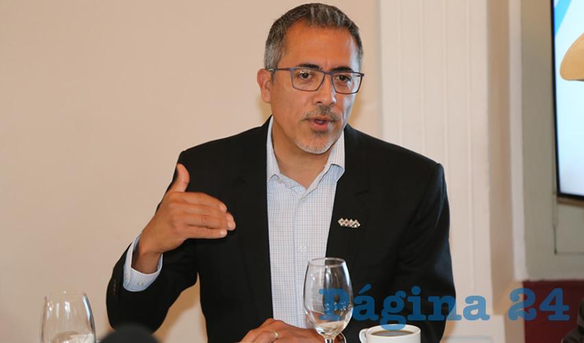 Alfonso Linares Medina, presidente de la Asociación de Comerciantes de la Zona Centro (Acocen)